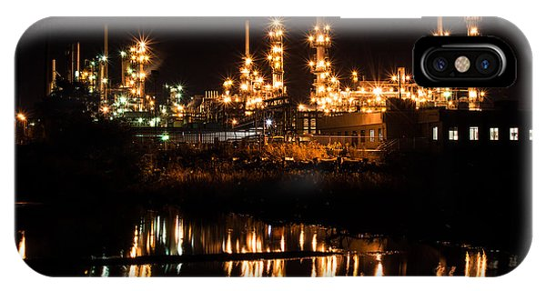 Refinery At Night 1 IPhone Case