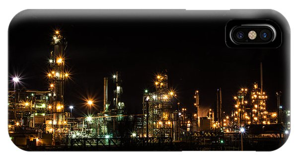 Refinery At Night 2 IPhone Case
