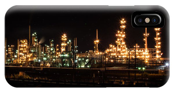 Refinery At Night 3 IPhone Case