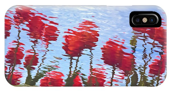 Reflected Tulips IPhone Case