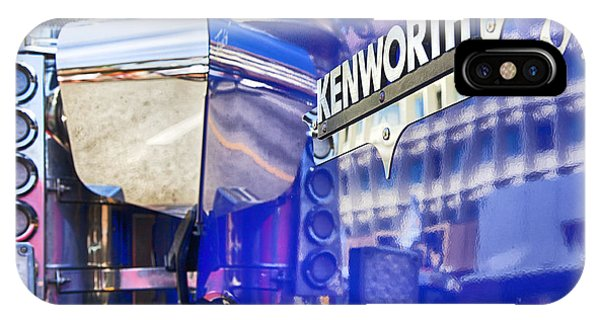 Trucking iPhone Case - Reflecting On A Kenworth by Theresa Tahara