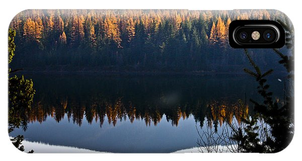 Reflecting On Autumn IPhone Case