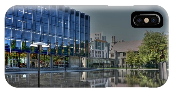 Reflecting Pond U Of C Law School Phone Case by David Bearden