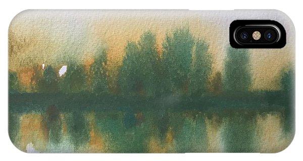 Samantha iPhone Case - Reflecting Stourhead  by Samantha Adams