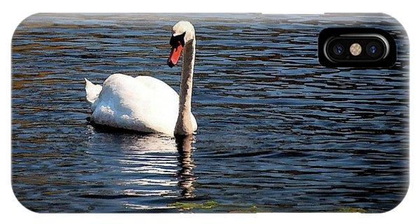 Reflecting Swan IPhone Case
