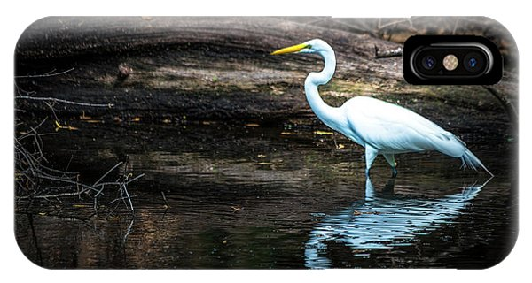 Egrets iPhone Case - Reflecting White by Marvin Spates