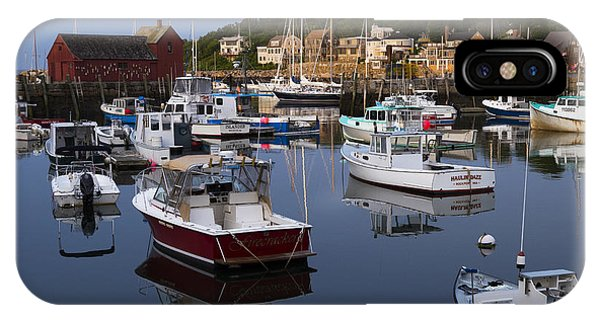 Reflection At Rockport Harbor IPhone Case