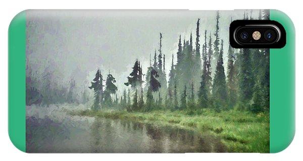 Reflection Lake, Mt Rainier Fine Art Print IPhone Case