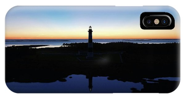 Reflection Of Bodie Light At Sunset IPhone Case