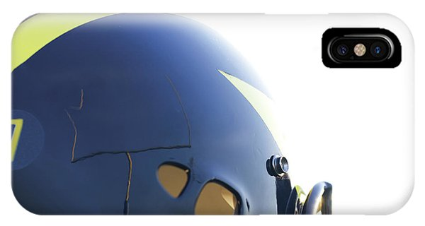 Reflection Of Goal Post In Wolverine Helmet IPhone Case