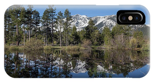 Reflection Of Mount Tallac Phone Case by Webb Canepa