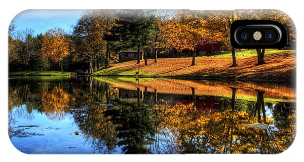 Reflection Of Northeast Ohio Fall IPhone Case