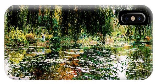 Reflection On Oscar - Claude Monet's Garden Pond IPhone Case