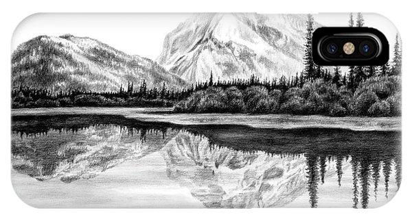 Reflections - Mountain Landscape Print IPhone Case