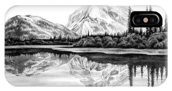 Reflections - Mountain Landscape Print IPhone Case