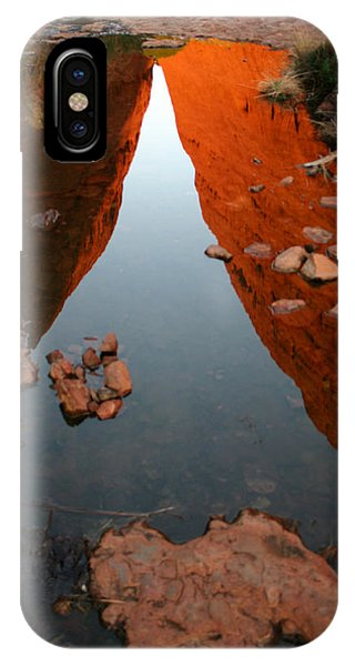IPhone Case featuring the photograph Reflections At Kata Tjuta In The Northern Territory by Keiran Lusk
