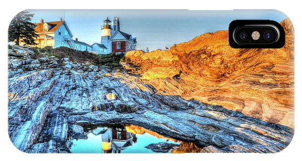 Reflections At Pemaquid Point IPhone Case