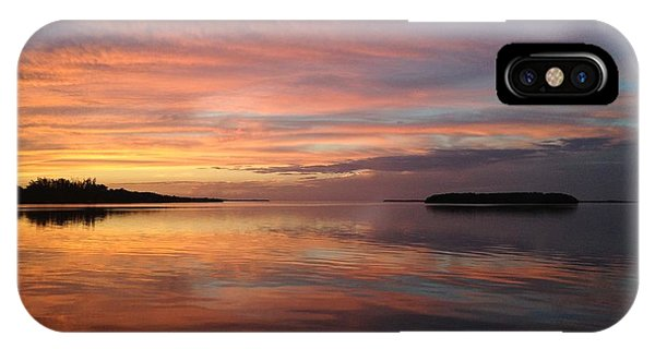 Reflections At Sunset In Key Largo IPhone Case