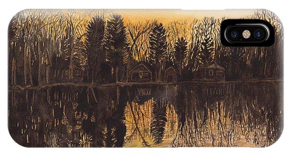 Reflections At Sunset On Bitely Lake IPhone Case
