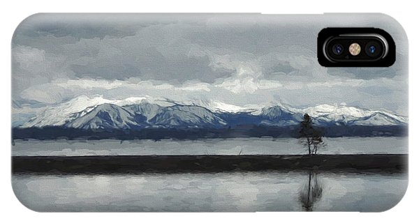Reflections In Lake Yellowstone IPhone Case