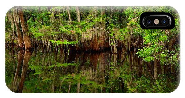 Reflections Near The Suwannee River IPhone Case