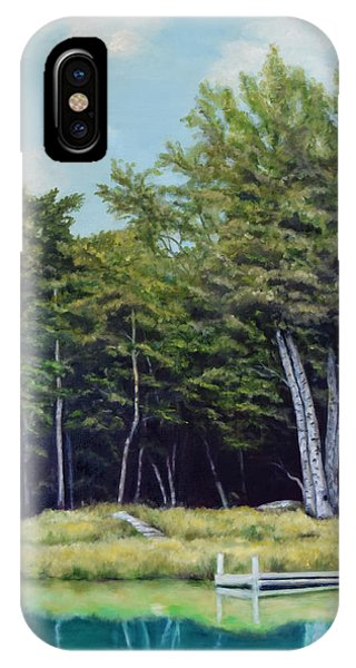 Reflections Of Birches IPhone Case