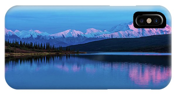Sunset Reflections Of Denali In Wonder Lake IPhone Case