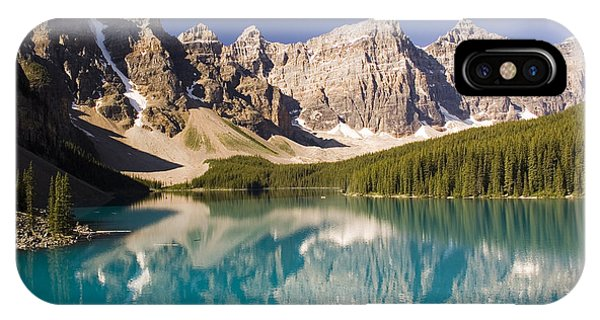 Reflections Of Moraine Lake Phone Case by Andrew Serff