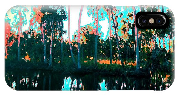 IPhone Case featuring the painting Reflections Of Palms Gulf Coast Florida by G Linsenmayer