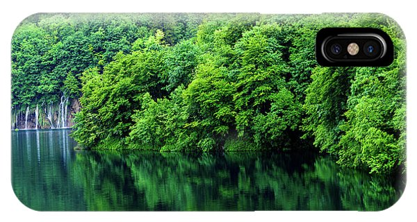 Reflections Of Plitvice, Plitvice Lakes National Park, Croatia IPhone Case