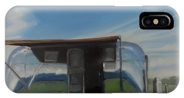 Reflections Of The Airstream Factory IPhone Case