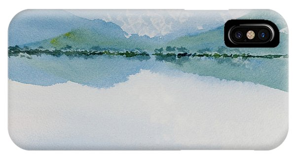 Reflections Of The Skies And Mountains Surrounding Bathurst Harbour IPhone Case