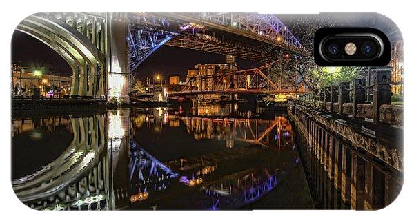 Reflections Of Veterans Memorial Bridge  IPhone Case