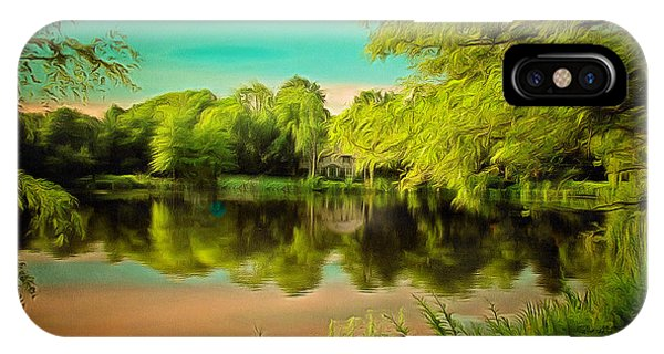 Reflections On A Pond IPhone Case