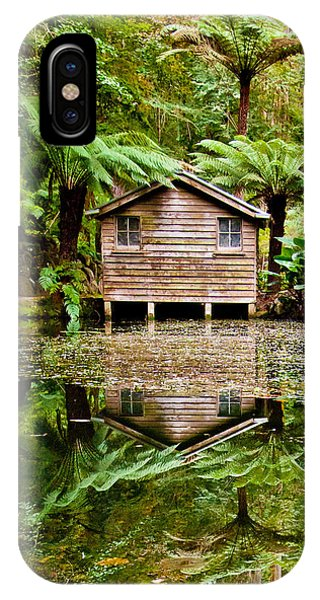 Greenery iPhone Case - Reflections On The Pond by Az Jackson