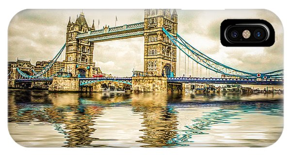 Reflections On Tower Bridge IPhone Case