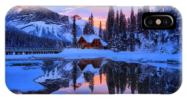 Rocky Mountain Np iPhone Case - Reflections Over Emerald Lake by Adam Jewell