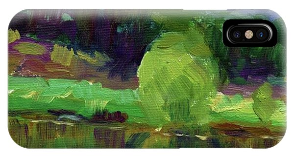 Colorful iPhone Case - Reflections Painting Study By Svetlana by Svetlana Novikova
