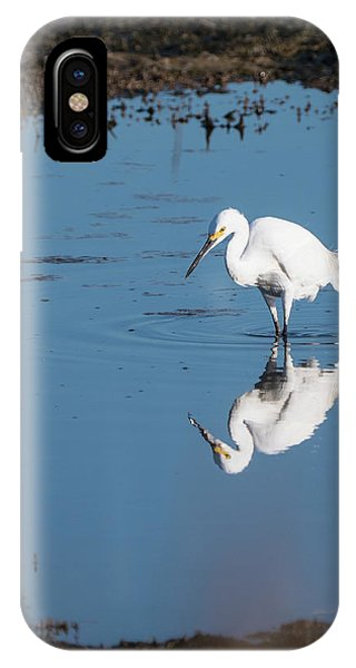 Reflections White Egret IPhone Case