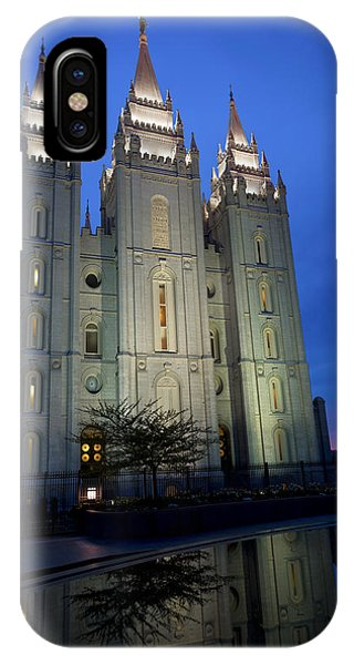 Temple iPhone Case - Reflective Temple by Chad Dutson