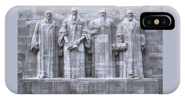 Reformers Wall, Geneva, Switzerland, Hdr IPhone Case