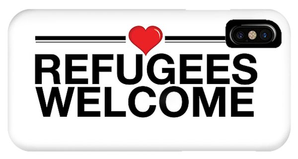 Refugees Wecome IPhone Case