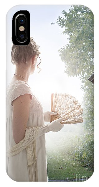 Regency Woman Looking Through A Gateway IPhone Case