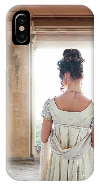 Regency Woman Under A Colonnade IPhone Case