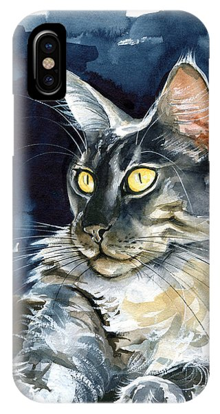 Regina - Maine Coon Painting IPhone Case