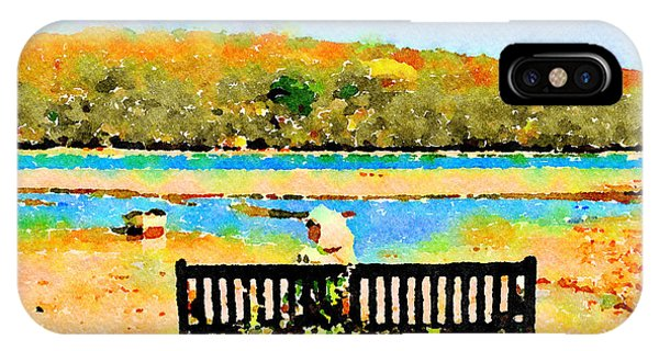 IPhone Case featuring the painting Relax Down By The River by Angela Treat Lyon