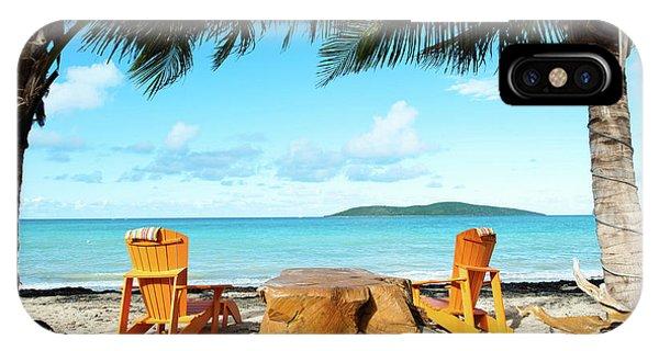 Beach Chair iPhone Case - Relax In St Croix by Greg Wyatt