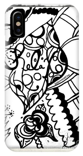 IPhone Case featuring the drawing Relax by Rachel Maynard