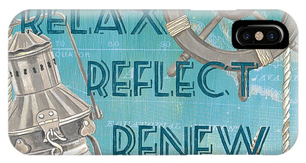 Relax Reflect Renew IPhone Case