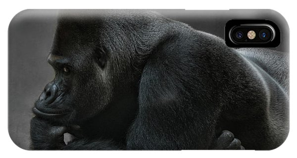 Relaxed Silverback IPhone Case